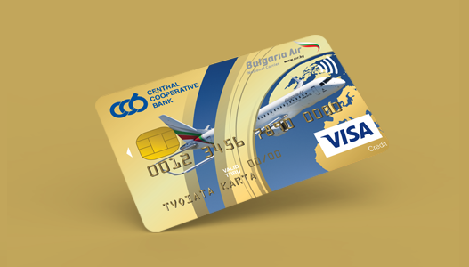 Ко-брандирана Visa Gold CCB Bulgaria Air